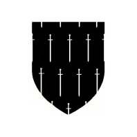 sable, a seme' of swords inverted argent